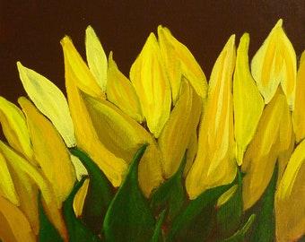 Sunflower - Original painting by Jamies Art 12x12