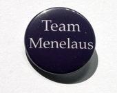 Greek Mythology Badge- Team Menelaus - Purple Pinback Badge