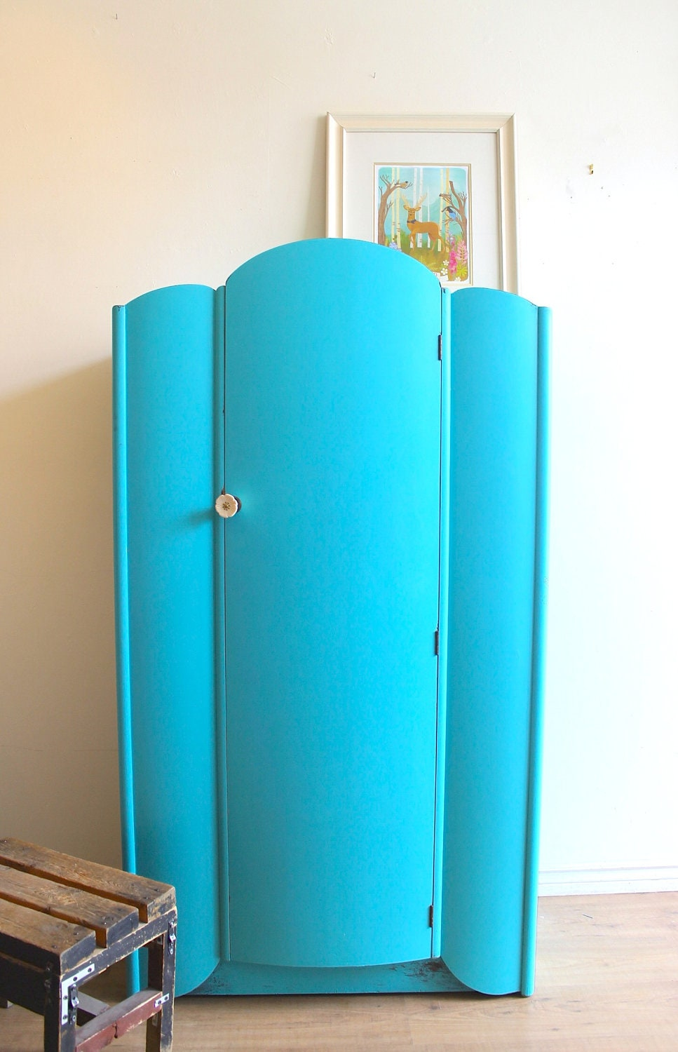 turquoise art deco armoire. Black Bedroom Furniture Sets. Home Design Ideas