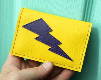 Lightning Bolt Mini Wallet - Yellow and Purple - We got what you need