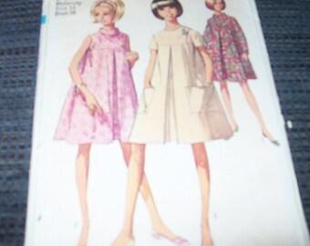 Simplicity vintage 1960 era maternity dress pattern 7393 cut size 14