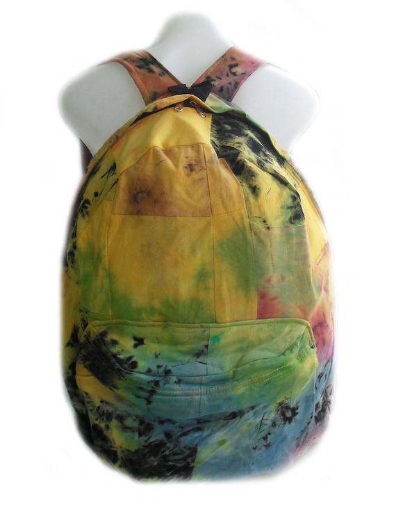 Hand Dyed Backpack Back To School Special Prices Independence Day