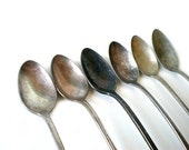 Antique Teaspoons, Sugar Spoon Collection, Tea Time, Shabby Chic