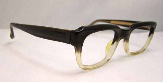 Stunning Metzler Brand Germany, Two Tone EYEGLASSES 1960s Geekey at its best