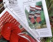 Rustic Cabin Christmas Stocking Circular Knitting KIT