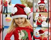 LSBV Miss Santa Hat Infant-Childrens Sizes Made to Order