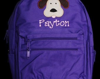 Personalized Backpack, Dog Backpack, Monogrammed, Choose Your Own Colors