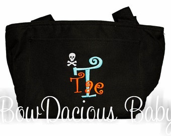 Boys Lunch Bag, Personalized Lunch Bag, Custom Lunch Bag, Pirate Lunch Box, You Pick