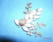REDUCED-Lavender Moonstones, and Rhinestones in a Floral Spray Bouquet