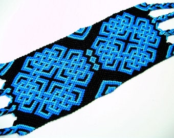 Blue and Black Celtic Knot Friendship Bracelet
