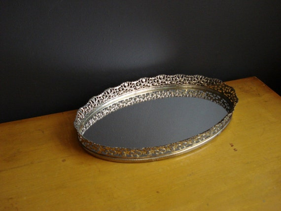 Fairest of Them All - Vintage Oval Dressertop Mirror with Frame