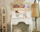 Painted Cottage Chic Shabby White Romantic Desk DK273