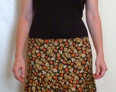 SALE- Flower print hippie maxi skirt