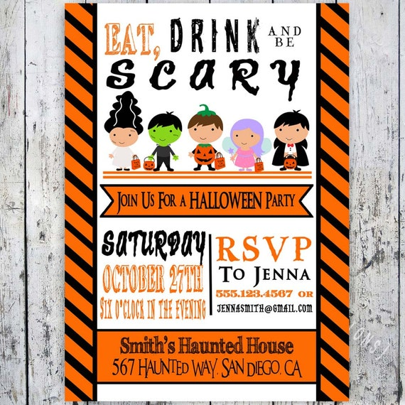 Items Similar To Halloween Invitations