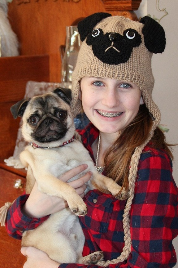 Knitting Pattern For Pug Hat : Pug hat with earflaps