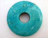 Magnesite Turquoise Color Stone Donut