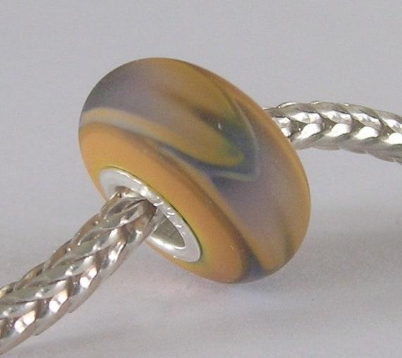 OOAK Organic Handmade Lampwork European Charm Bead - SRA - fits Troll/Biagi etc
