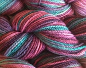 Merino Wool Yarn Worsted Weight in Desert Cactus Handpainted