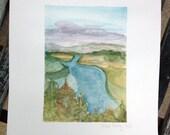 Follow Me - Original Watercolor Landscape Painting