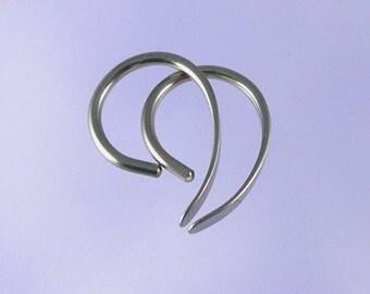 Niobium earrings: 18 gauge Tiny Apostrophe