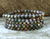 Fancy Jasper 5 Wrap Bracelet