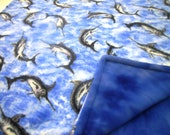 Swordfish Fleece Blanket