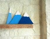 Climb every mountain / mountain home decor / mountain art /  folk art / shelf art