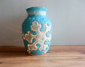 Snowflake Luminary /  Winter Vase or Candle Holder / winter blue home decor