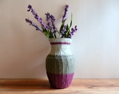 Vase / Purple and Gray Vase  / Purple Home Decor / made to order / home and garden