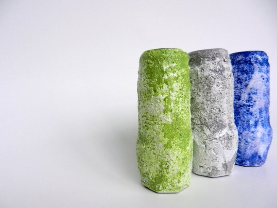 Vases / Instant Collection / Windowsill bud vases / set of 3 / up-cycled spice jars