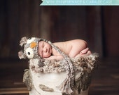 Owl Hat Photo Prop