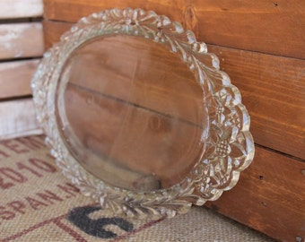Vintage Glass Vanity Tray - Very Good Condition - Weddings - Showers - Parties - Gift