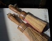 gathered bristle brushes with wood handles