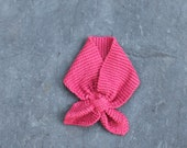 Rose Pink Toddler scarf, hand knit with cotton, child and baby sizes