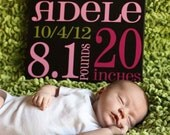 Baby Birth Announcement Subway Art baby sign
