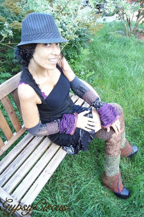 Armwarmers - Fingerless Sleeves - Burning Man - Clothing Accessory - Gloves - Bohemian Gypsy - Dance Costume - Pixie Fairy - One Size