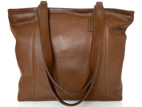 Authentic Rare Coach Made in USA Extra Large Shopper Tote Weekend Bag Hampton Bleecker Legacy