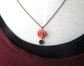 love you always Rose black necklace great gift for anniversary romantic night wedding