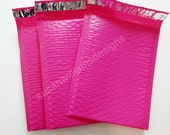 Hot Pink Bubble Mailer Poly Size 0 Self Seal 6x9 Padded Shipping Envelopes 10