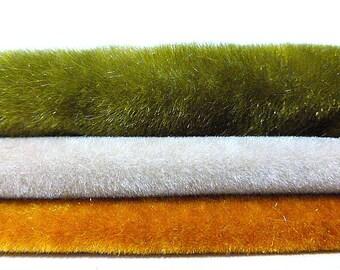 Teddy Bear Velvet New Upholstery Fabric Bundles Three Pieces
