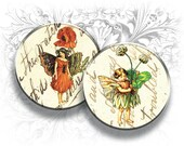 Flower Fairies 1 Inch Circles Digital Collage Sheet Download and Print