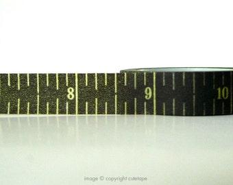 Ruler Washi Tape Ruler Black Numbers (Chugoku)