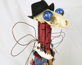 "Assemblage Doll ""Lester""  Woodland Forest Creature Bonehead"