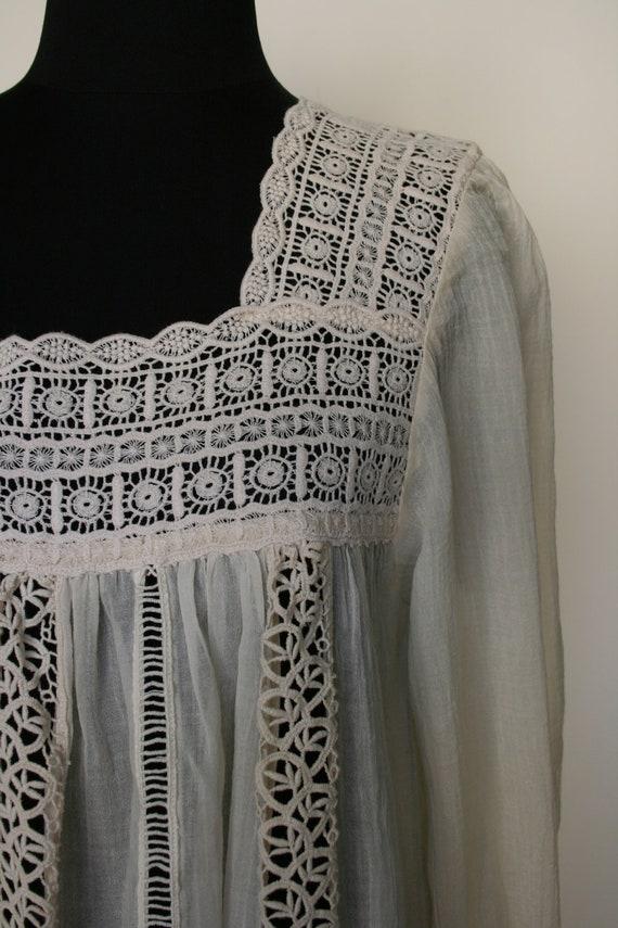 SALE White lace summer dress, L size