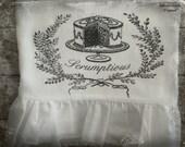 Handmade Flour Sack, Tea Towel, Farmhouse, Cottage Chic, Hostess Gift, Ruffle