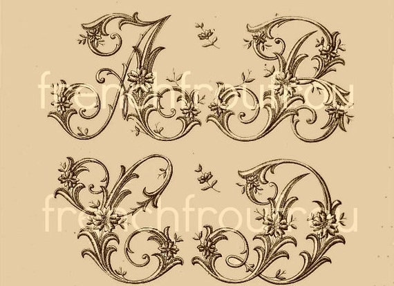 antique victorian alphabet sewing pattern DIGITAL