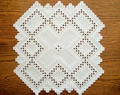 Hardanger Placemat Hand Embroidered Centre Piece One of a Kind Heirloom Quality
