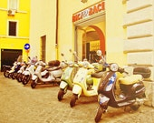 Travel Rome Photography(8x10) motorbike european city street home decor pastel warm colors - magnesina
