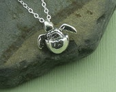 Baby Sea Turtle Necklace - sterling silver sea turtle jewelry - popular necklaces