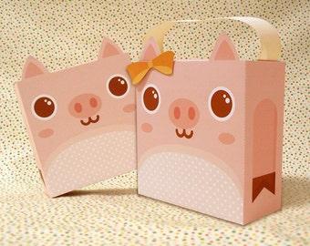 Cute Pig Giftbox Printable PDF